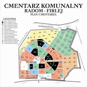 Cmentarz Firlej Radom Plan Cmentarza